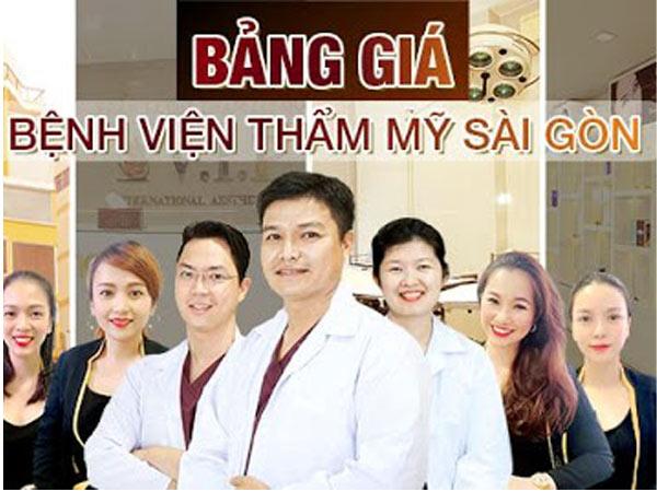 Bảng giá Bệnh viện thẩm mỹ Sài Gòn